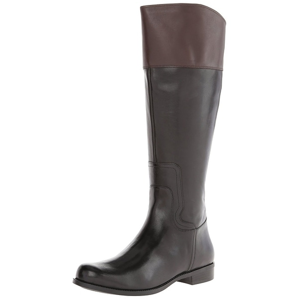 Nine West Womens Cromie Leather Closed Toe Knee High Fashion Boots