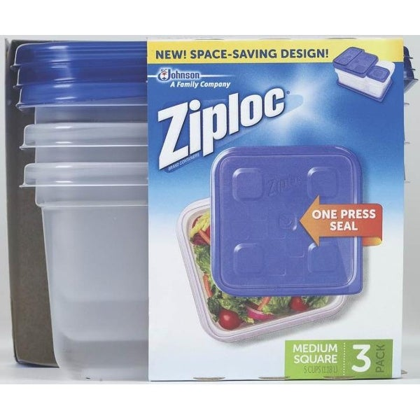Shop Ziploc 70937 Snap U0027N Seal Square Food Storage Container, 40 Oz   Free  Shipping On Orders Over $45   Overstock   14425803