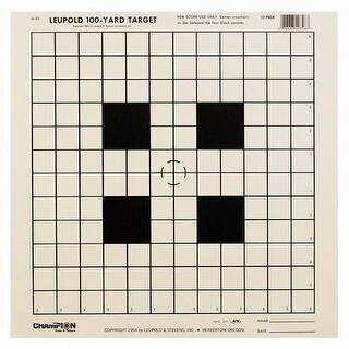 Champion 40746 champion tgt paper 14x14 100yd. sight in target 12pk
