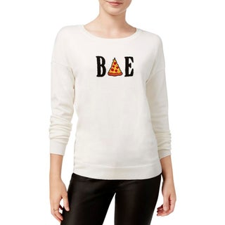 Ultra Flirt Womens Juniors Pullover Sweater Embroidered Graphic - S