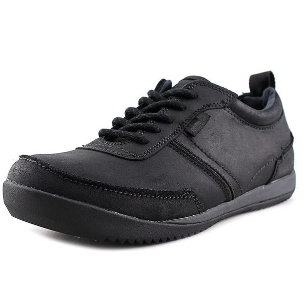 Simple Ascent Men Moc Toe Leather Black Oxford