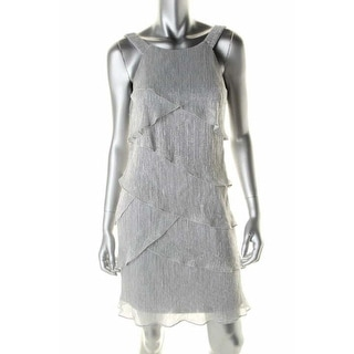Laundry by Shelli Segal Womens Metallic Tiered Cocktail Dress - 14