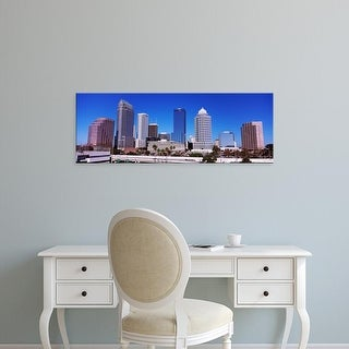 Easy Art Prints Panoramic Images's 'Skyscrapers in a city, Tampa, Florida, USA' Premium Canvas Art