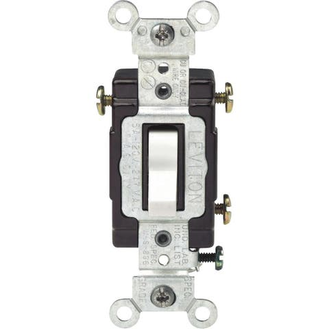 Leviton Wht 3-Way Ltd Switch