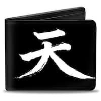 Akuma Symbol Black White + Street Fighter Assassin's Fist Bi Fold Wallet - One Size Fits most