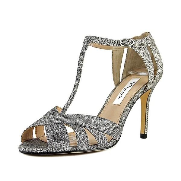 Nina Ricarda Women Open Toe Canvas Silver Sandals