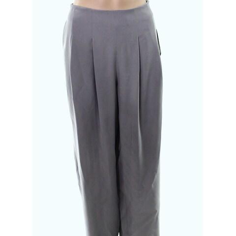 Armani Collezioni Womens Pleated Wide Leg Dress Pants