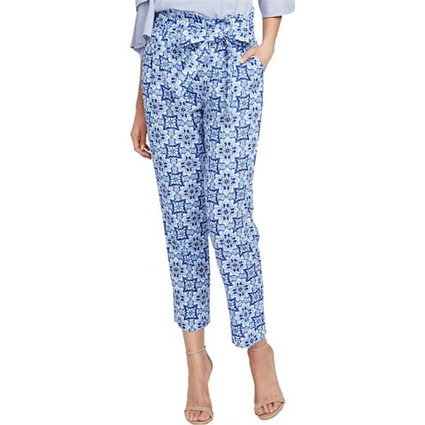 Rachel Roy Womens Tile-Print Casual Trouser Pants