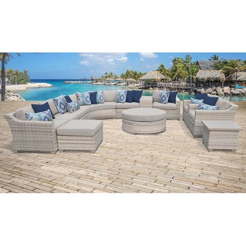 Fairmont 12 Piece Outdoor Wicker Patio Furniture Set 12a