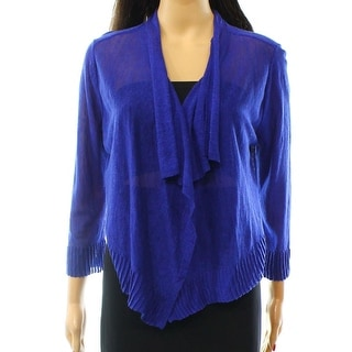 INC NEW Blue Goddess Women's Size Small S Cropped Cardigan Sweater