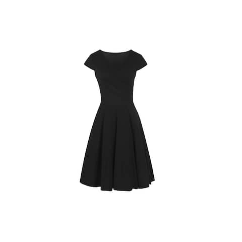 Haute Edition Women's V-Neck Skater Dress