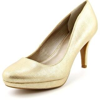 Alfani Madyson Women Open Toe Synthetic Gold Platform Heel
