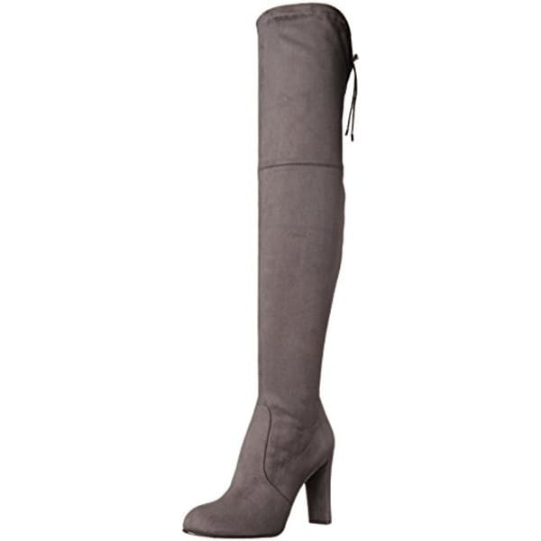 d518c4880 Sam Edelman Womens Kent Over-The-Knee Boots Faux Suede Drawstring Back