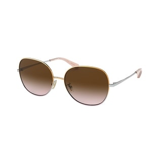 Link to Coach HC7108 933713 57 Shiny Gold/silver/light Purple Woman Round Sunglasses - Gold / Silver / Purple Similar Items in Women's Sunglasses