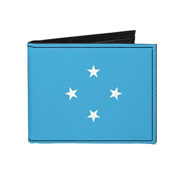Buckle-Down Canvas Bi-fold Wallet - Micronesia Flag Accessory