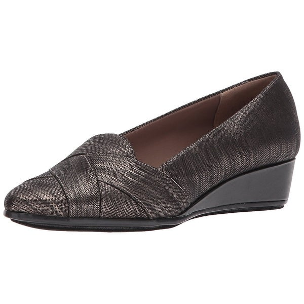 Easy Spirit Womens arysta Almond Toe Casual Slide Sandals