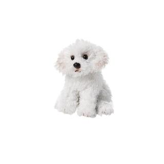 "Children's Bicon-Frise Dog Beanbag Plush Stuffed Animal - By Demdaco - 5.5"" High"