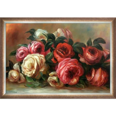 Pierre-Auguste Renoir 'Discarded Roses' Hand Painted Oil Reproduction
