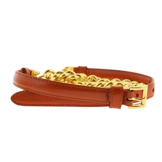 Prada Womens Leather Chain Skinny Belt - 14-16