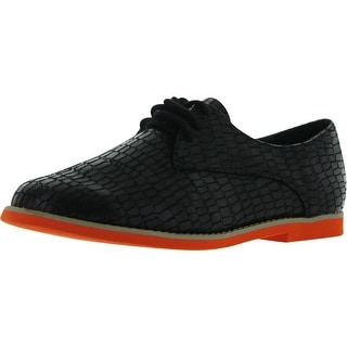 Nomad Women's Links Oxford Shoes - black crocodile