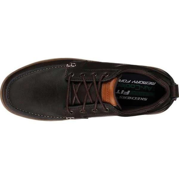 deseable estante oportunidad  Shop Skechers Men's Heston Sendo Moc Toe Oxford Chocolate ...