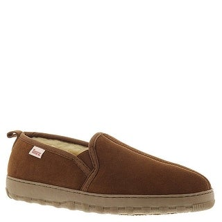 Slippers International Mens Twin Gore Suede Closed Toe Pull On Slippers