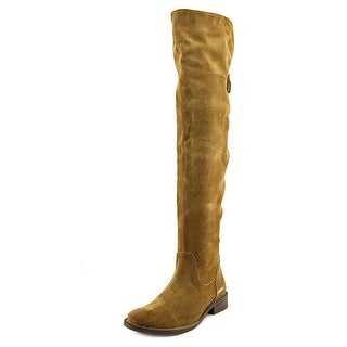 Frye Shirley OTK Round Toe Leather Over the Knee Boot