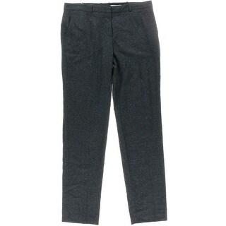 BOSS Hugo Boss Womens Wool/Silk Blend Speckled Dress Pants - 8