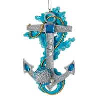 Under the Sea Anchor with Gems Christmas Holiday Ornament