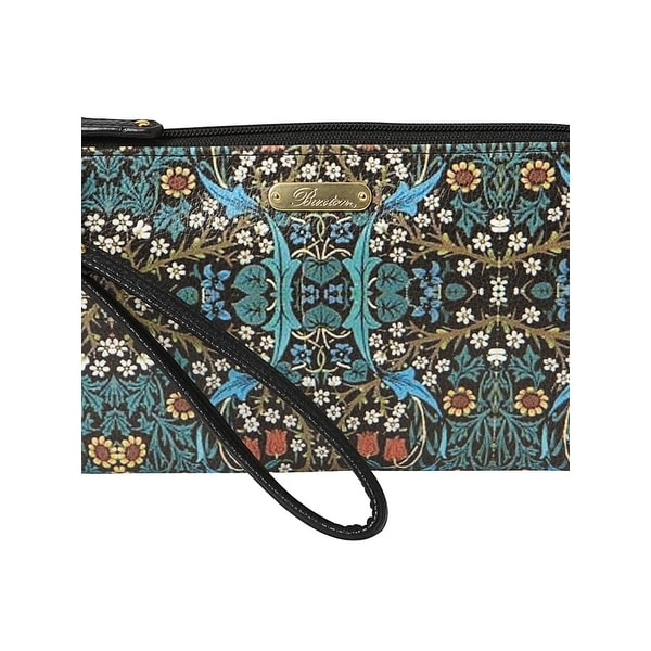 Buxton Womens Art Nouveau Wristlet Wallet Faux Leather Convertible - o/s