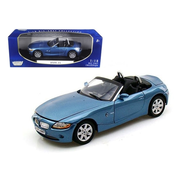 Bmw Z4 Hardtop Convertible: Shop BMW Z4 Convertible Blue 1/18 Diecast Model Car By