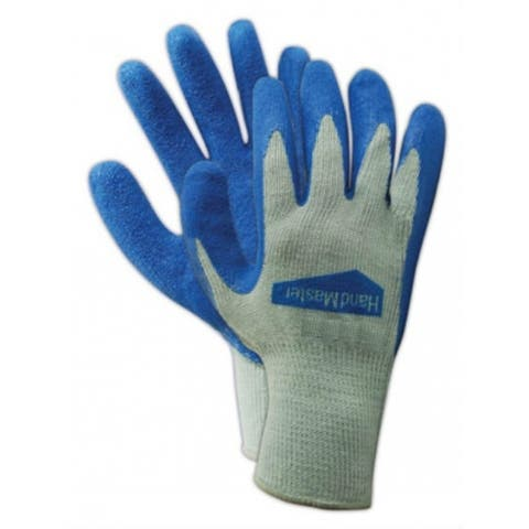 Magid 306TS HandMaster Latex Coated Palm Glove, Small, Blue