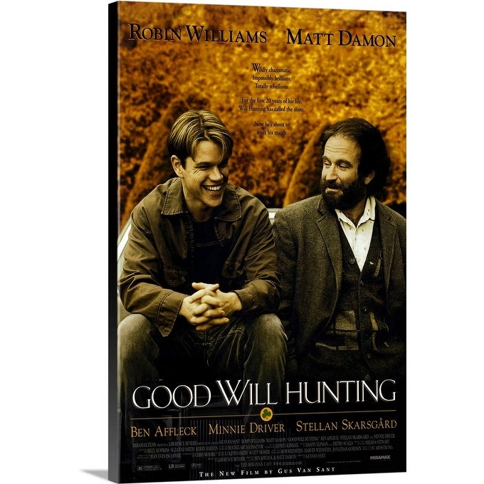 Shop Good Will Hunting 1997 Canvas Wall Art Overstock 24137566