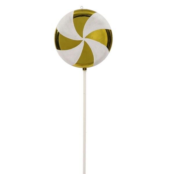 """42"""" Lime White Swirl Lollipop"""