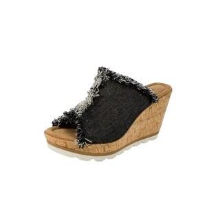 Minnetonka Shoes Womens Denim Canvas Wedge Athletic York