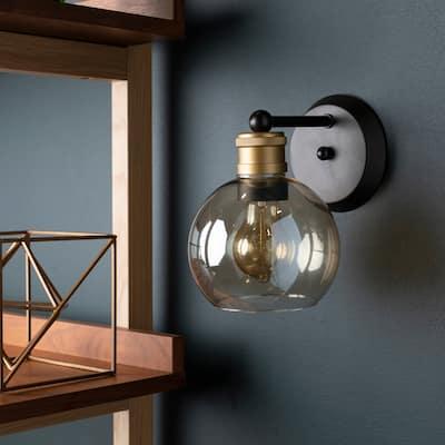 "Carson Vintage Globe 1-light Wall Sconce - 8.25""H x 6""W x 7.75""D"