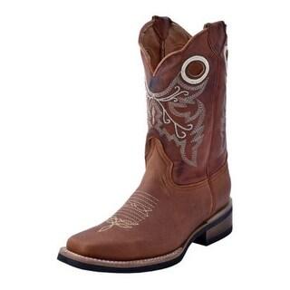 Ferrini Western Boots Mens Renegade Pull Holes Block Scalloped 12171