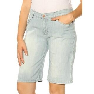 Womens Navy Striped Bermuda Short Petites Size 8