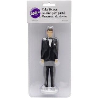 """Cake Topper 5.75""""-Groom - Caucasian"""