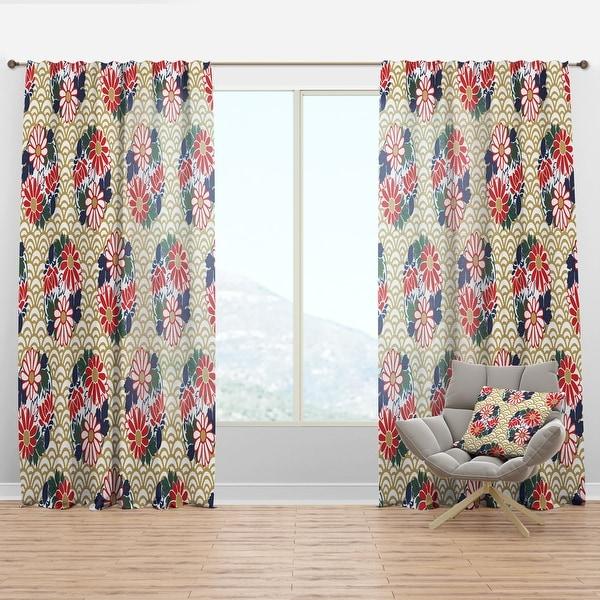 Designart 'Japanese Floral Pattern' Oriental Curtain Panel. Opens flyout.