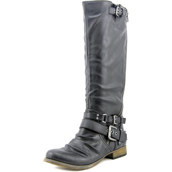 Carlos by Carlos Santana Hanna 2 Women Round Toe Synthetic Black Knee High Boot