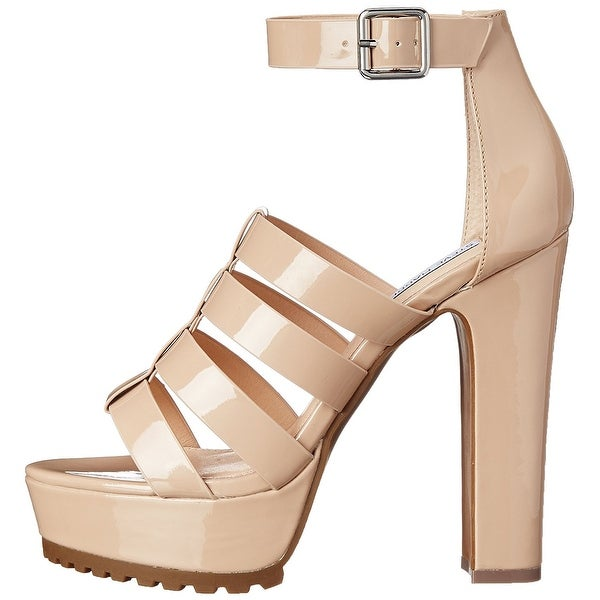 Steve Madden Womens Groove Leather Open Toe Casual Platform Sandals