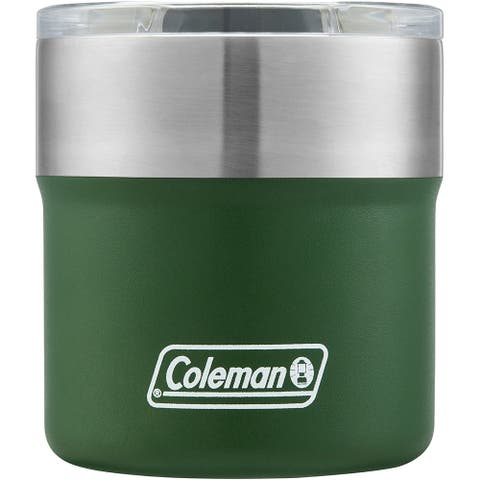 Coleman 2010847 Sundowner Insulated Stainless Steel Rocks Glass, Heritage Green, 13 oz.