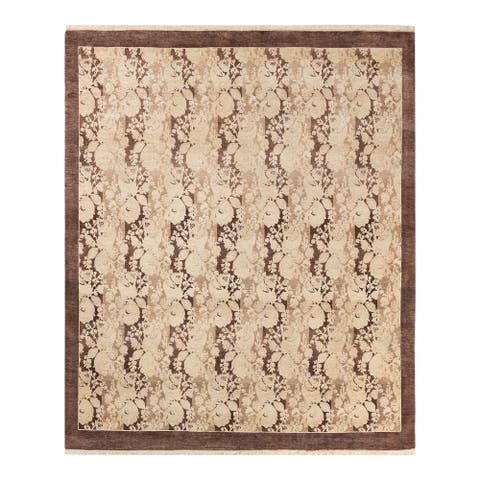 """Mogul, One-of-a-Kind Hand-Knotted Area Rug - Brown, 6' 0"""" x 6' 2"""" - 6' x 6'"""