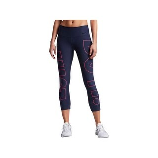 Nike Womens Athletic Leggings Cropped Tight Fit