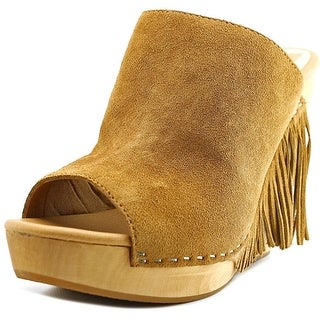 Dolce Vita Cai Women  Open Toe Suede Brown Wedge Sandal