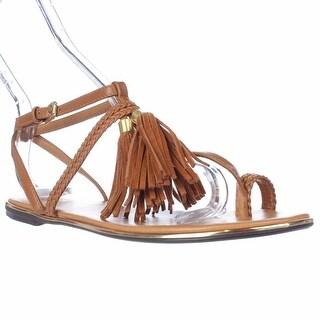 Report Citrine Ring-Toe Flat Sandals, Tan