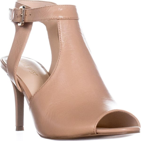 Nine West Infusion Cutout Ankle Strap Sandals, Natural
