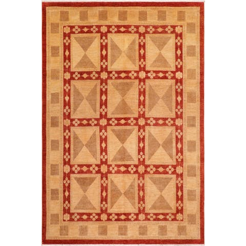 """Boho Chic Ziegler Tomi Hand Knotted Area Rug -8'0"""" x 9'11"""" - 8 ft. 0 in. X 9 ft. 11 in."""