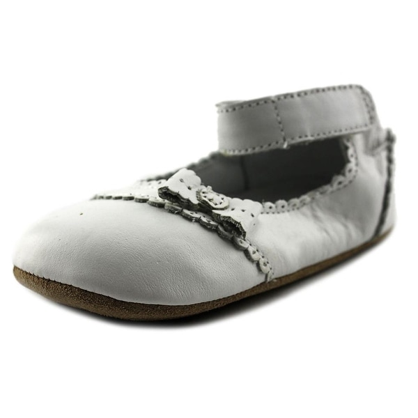 Robeez Catherine Infant  Round Toe Leather White Flats
